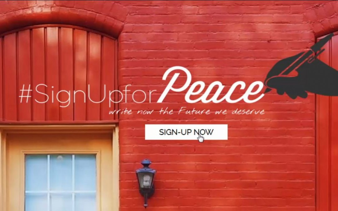 """""""Sign up for peace"""""""